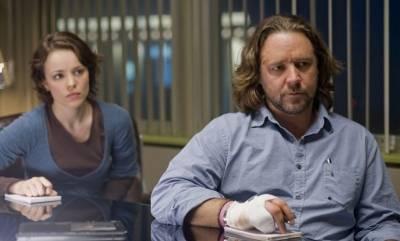 Russell Crowe (Cal McAffrey) en Rachel McAdams (Della Frye)