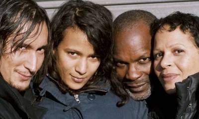 Grégoire Colin (Noé), Alex Descas (Lionel), Mati Diop (Joséphine) en Nicolas Dogué