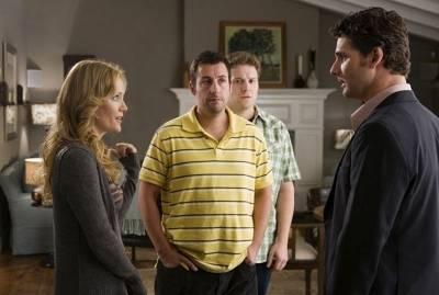 Leslie Mann (Laura), Seth Rogen (Ira Wright) en Adam Sandler (George Simmons)