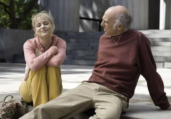 Larry David (Boris Yellnikoff) en Evan Rachel Wood (Melodie St. Ann Celestine)