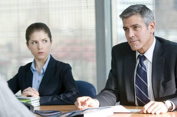 George Clooney (Ryan Bingham) en Anna Kendrick (Natalie Keener)