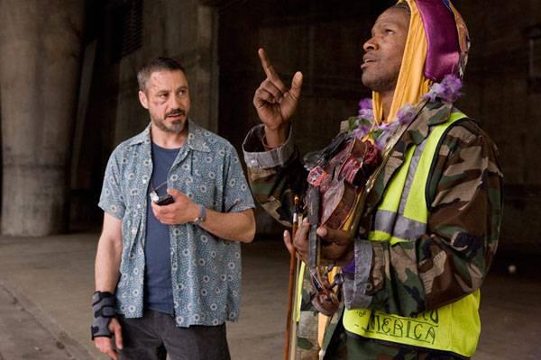 Robert Downey Jr. (Steve Lopez) en Jamie Foxx (Nathaniel Ayers)