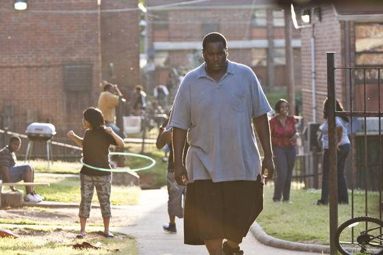Quinton Aaron (Michael Oher) in The Blind Side