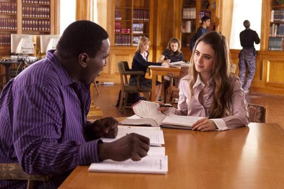 Quinton Aaron (Michael Oher) en Lily Collins (Collins Tuohy)