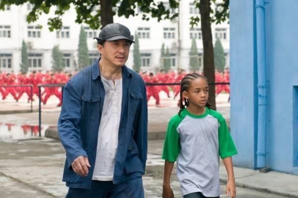 Jackie Chan (Mr. Han) en Jaden Smith (Dre Parker)