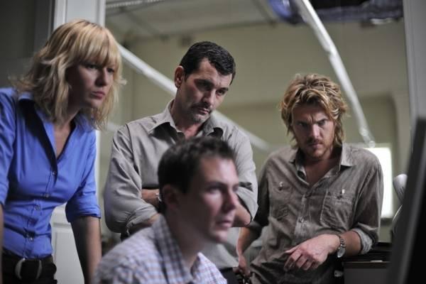 Hilde De Baerdemaeker (Linda de Leenheer), Koen de Bouw (Eric Vincke), Werner de Smedt (Freddy Verstuyft) en Greg Timmermans (Wim Cassiers)