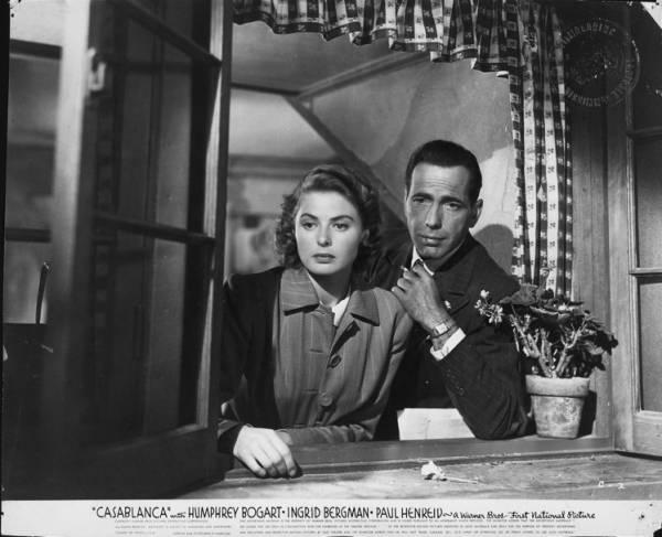 Ingrid Bergman (Ilsa Lund) en Humphrey Bogart (Rick Blaine)