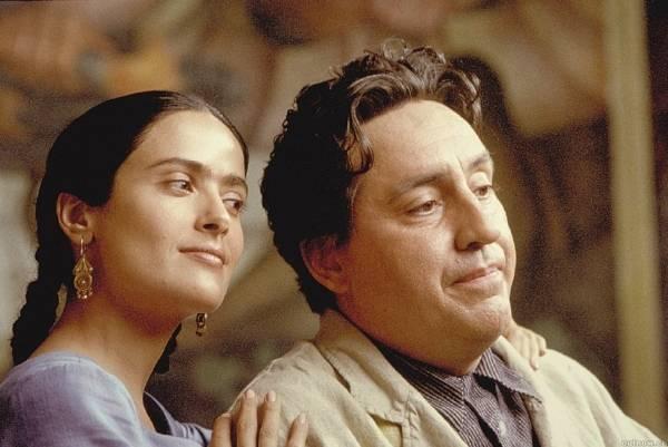 Salma Hayek (Frida Kahlo) en Alfred Molina (Diego Rivera)