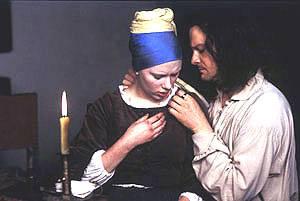 Colin Firth (Johannes Vermeer) en Scarlett Johansson (Griet)