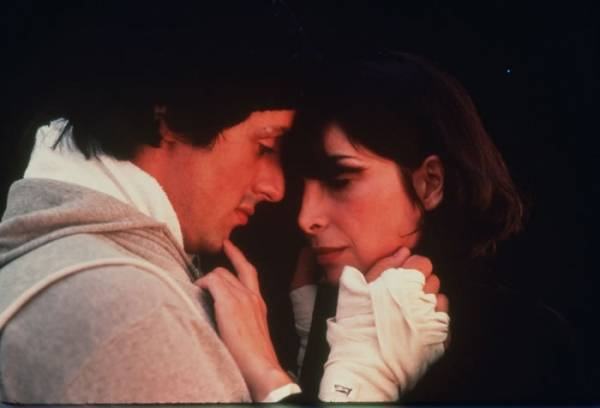 "Talia Shire (Adrianna ""Adrian"" Pennino) en Sylvester Stallone (Rocky Balboa)"