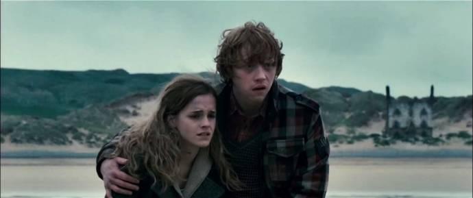 Rupert Grint (Ron Weasley) en Emma Watson (Hermione Granger)