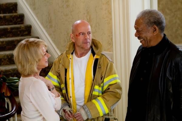 Morgan Freeman (Joe Matheson), Helen Mirren (Victoria) en Bruce Willis (Frank Moses)