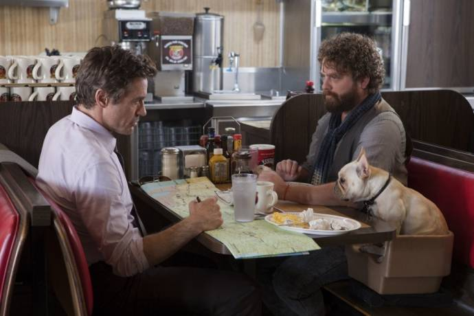 Robert Downey Jr. (Peter Highman) en Zach Galifianakis (Ethan Tremblay)