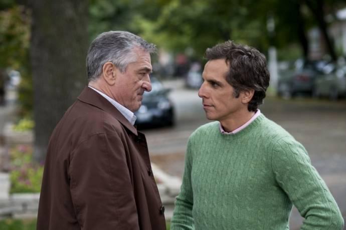 Robert De Niro (Jack Byrnes) en Ben Stiller (Greg Focker)