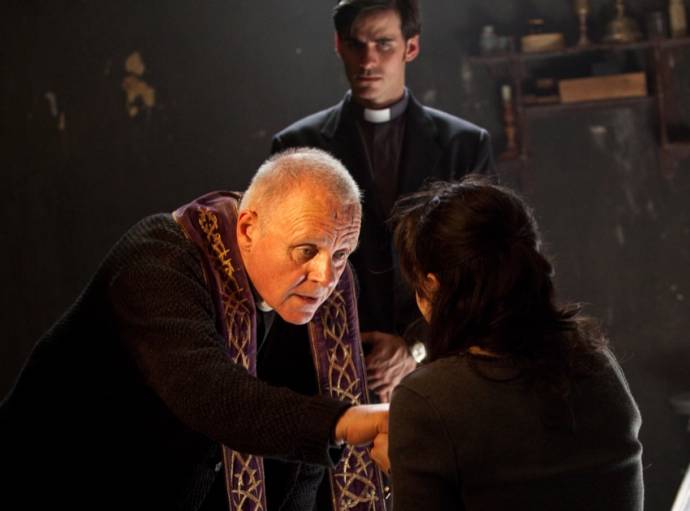 Anthony Hopkins (Father Lucas) in The Rite