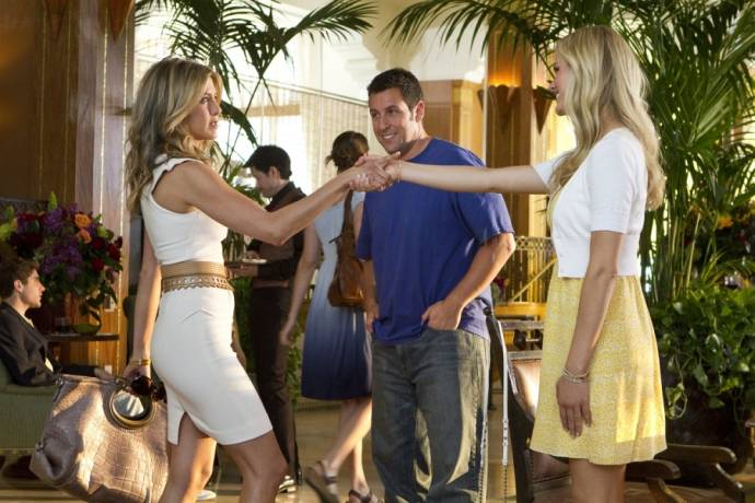 Jennifer Aniston (Katherine), Brooklyn Decker (Palmer) en Adam Sandler (Danny)