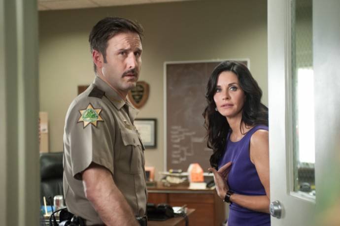 David Arquette (Sheriff Dewey Riley) en Courteney Cox (Gale Weathers-Riley)