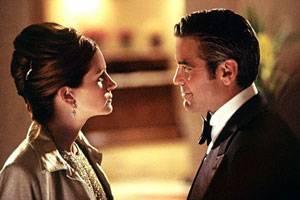 George Clooney (Danny Ocean) en Julia Roberts (Tess Ocean)