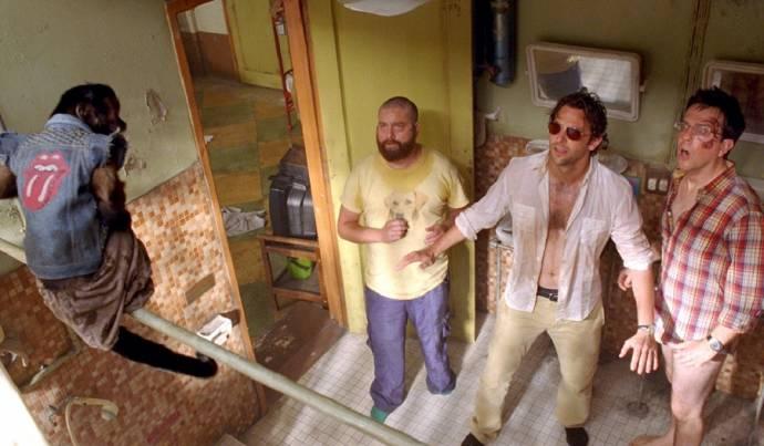 Zach Galifianakis (Alan Garner), Bradley Cooper (Phil Wenneck) en Ed Helms (Stu Price)