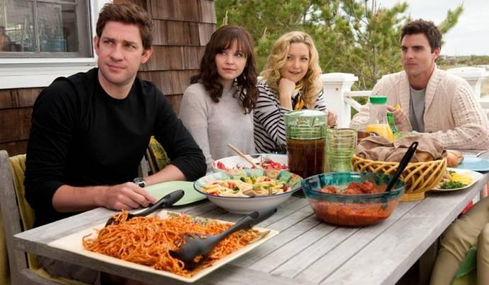 John Krasinski (Ethan), Ginnifer Goodwin (Rachel), Kate Hudson (Darcy) en Colin Egglesfield (Dex)