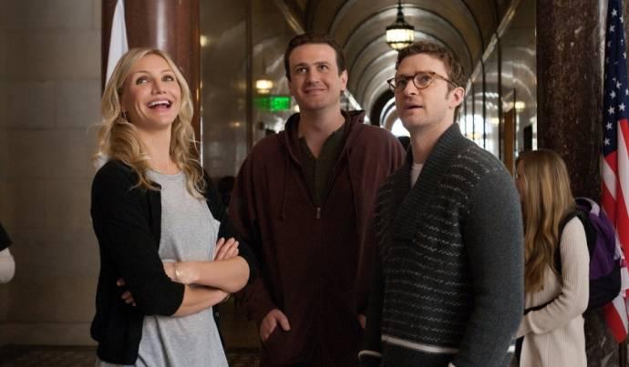 Cameron Diaz (Elizabeth Halsey), Jason Segel (Russell Gettis) en Justin Timberlake (Scott Delacorte)
