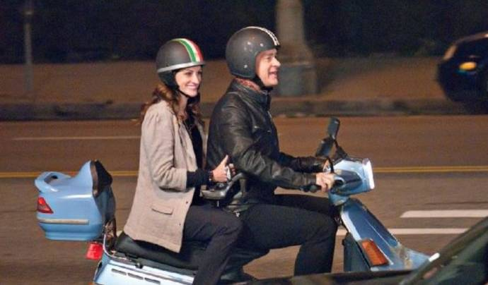 Julia Roberts (Mercedes Tainot) en Tom Hanks (Larry Crowne)