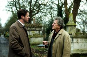 Final Portrait: Armie Hammer (James Lord) en Geoffrey Rush (Alberto Giacometti)