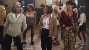 Joanna Lumley (Jackie), Imelda Staunton (Sandra) en Celia Imrie (Bif)