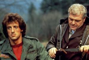 First Blood: Brian Dennehy (Hope Sheriff Will Teasle) en Sylvester Stallone (John J. Rambo)