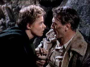 For Whom the Bell Tolls: Ingrid Bergman (María) en Gary Cooper (Robert Jordan)