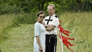 Frances McDormand en Bruce Willis in Moonrise Kingdom