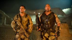 G.I. Joe: Retaliation: Channing Tatum (Captain Duke Hauser) en Dwayne Johnson (Roadblock)