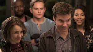 Game Night: Rachel McAdams (Annie), Lamorne Morris, Billy Magnussen (Ryan), Jason Bateman (Max) en Kylie Bunbury