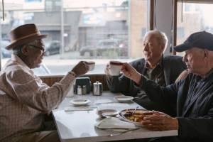 Morgan Freeman (Willie), Michael Caine (Joe) en Alan Arkin (Albert)