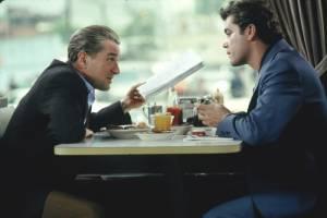Goodfellas: Robert De Niro (Jimmy Conway) en Ray Liotta (Henry Hill)