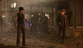 Daniel Craig en Harrison Ford in Cowboys & Aliens