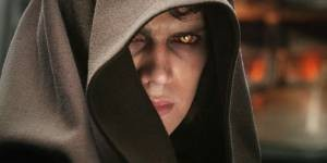 Anakin Skywalker (Hayden Christensen) wordt Darth Vader