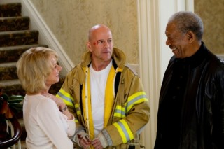 Morgan Freeman, Helen Mirren en Bruce Willis in RED