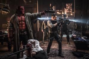 David Harbour (Hellboy) en Daniel Dae Kim (Ben Daimio)
