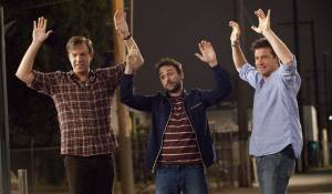 Horrible Bosses: Jason Sudeikis (Kurt Buckman), Charlie Day (Dale Arbus) en Jason Bateman (Nick Hendricks)