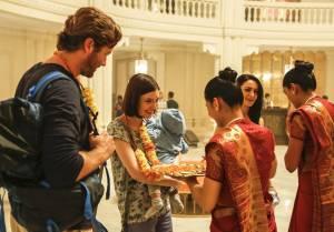Hotel Mumbai: Armie Hammer (David) en Nazanin Boniadi (Zahra)