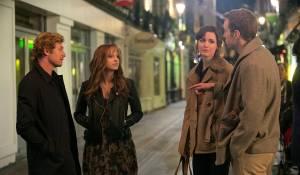 I Give It a Year: Simon Baker, Anna Faris (Chloe), Rose Byrne (Nat) en Rafe Spall (Josh)