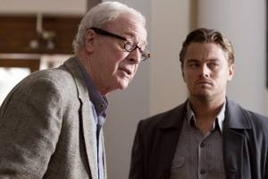 Inception: Michael Caine (Professor) en Leonardo DiCaprio (Cobb)