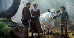 Into the Woods: James Corden (The Baker), Emily Blunt (The Baker's Wife) en Daniel Huttlestone (Jack)