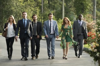Leslie Bibb, Jon Hamm, Jake M. Johnson, Ed Helms, Isla Fisher en Hannibal Buress in Tag