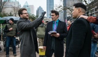 Seth Rogen, James Franco en Randall Park in The Interview