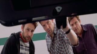 Charlie Day, Jason Sudeikis en Jason Bateman in Horrible Bosses 2
