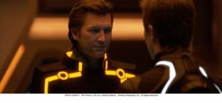 Jeff Bridges en Garrett Hedlund in Tron: Legacy