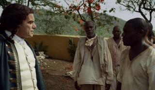 Jeroen Willems, Danny Glover en Obi Abili in Tula: The Revolt