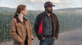 Jessica Chastain en Casey Affleck in Interstellar